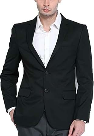 443a397a340 Bregeo Fashion Black Denim Casual Blazer: Amazon.in: Clothing ...