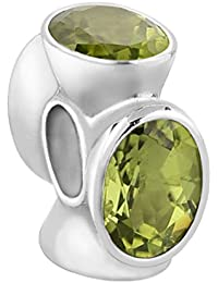 Nena Lina Peridot Bead verde en{925} plata de ley, también compatible con Pandora pulseras, 718044-013