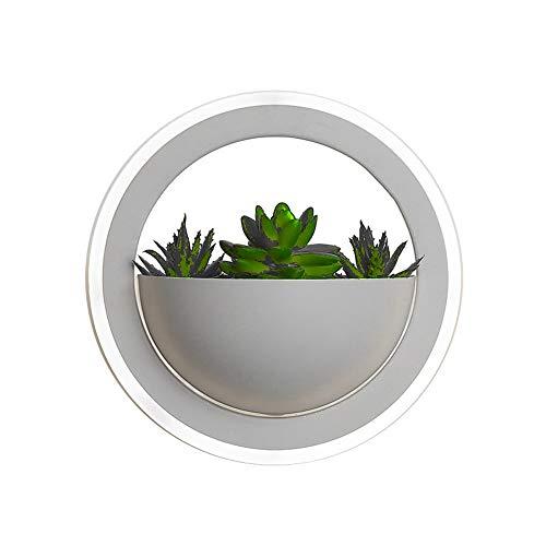 Belief Rebirth LED Wandleuchte 10W Round Design, Simulation Green Plant Wandleuchte - Wandleuchte für Wohnzimmer, Flur, Treppe, Hotel, Schlafzimmer, Kinderzimmer (weiß) (Color : White Light)