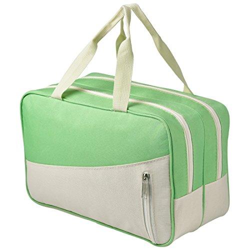 Bolsa de viaje de tocador para las mujeres - maquillaje bolsa de cosmética para nadar, viajar, gimnasio (Verde)