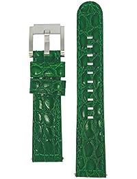 TW Steel Marc Coblen Armband Uhrenband Uhrenarmband Leder 22 MM Kroko Dunkelgrün LB_DG_K_S