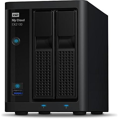 WD My Cloud EX2100 Expert Series - Almacenamiento en red NAS de 12 TB (2 compartimentos)