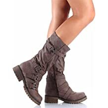 RFF-Womens Shoes Americana Largo Invierno Botas Canister,Brown,38