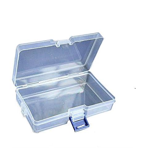 Plastica trasparente perline gioielli scatola viti per custodia trasparente contenitore di raccolta Organizer