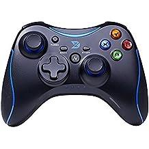 Zhidong N Complet Vibration Feedback USB Filaire Controller Gamepad Joystick pour Windows XP/7/8/8.1/10 Steam et Android & PS3 (Xbox360 Architecture et moteur) - Non soutenir la Xbox 360 (Bleu&Noir)