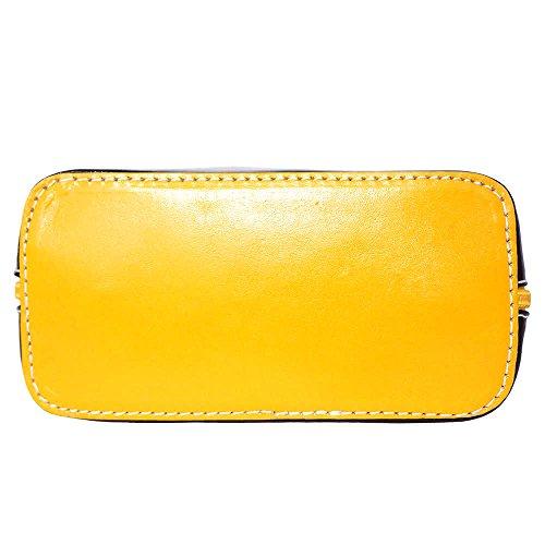 Florence Leather Market, Borsa a tracolla donna Small Nero/Giallo