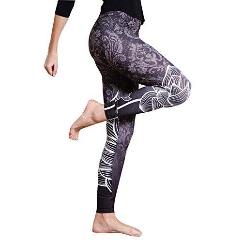 Damen Leggings Fitness Leggings - hibote Hohe Taille Yogahose Schwarz Leggings Tights für Sport Running Yoga Gymnastik