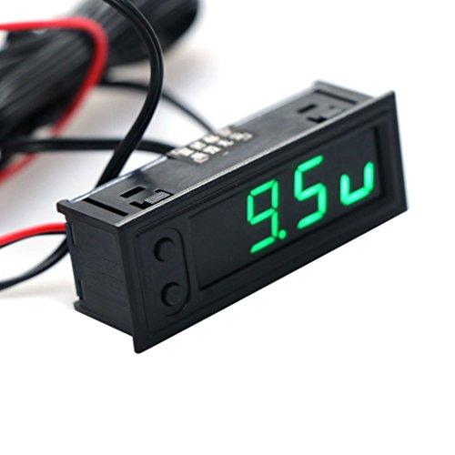 Tajie Temperaturanzeige DIY Multifunktions Uhr Auto Temperatur Batterie Spannung Monitor Voltmeter DC 12 V