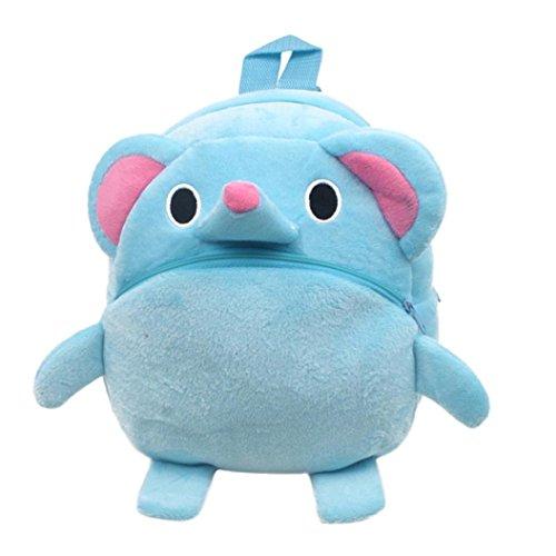Winkey Rucksack für Kinder/ Baby, Mädchen und Jungen, niedlich, Schultasche, Umhängetasche Blue Elephant 20x24cm wide 20cm x height 24cm -
