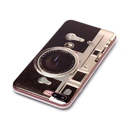 Custodia Cover Per Apple iPhone 7 Plus / iPhone 8 Plus 5.5 , WenJie Macchina fotografica Trasparente Silicone Sottile Back Case Molle di TPU Trasparente per Apple iPhone 7 Plus / iPhone 8 Plus 5.5 XS1