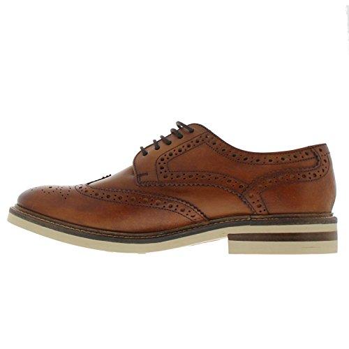 Base London Mens Apsley Leather Shoes Tan