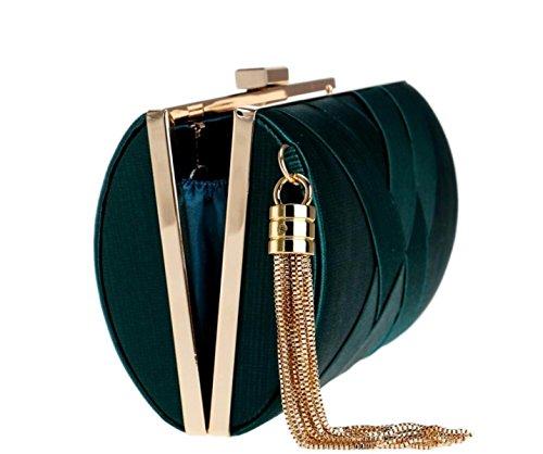 Damen Clutch Bags Seidenkleid Abendtasche Handtaschen Geldbörse Für Party Hochzeitsclubs Pink