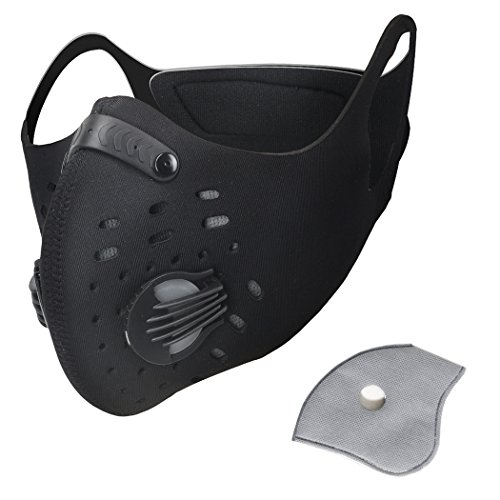 Pioneeryao Máscara Antipolución Máscara para Ciclismo Filtro de Aire mascarilla de polvo...