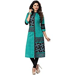 Ishin Women's Cotton Dress Material (Mjmhr-B-shli5-1512_Green_One Size)