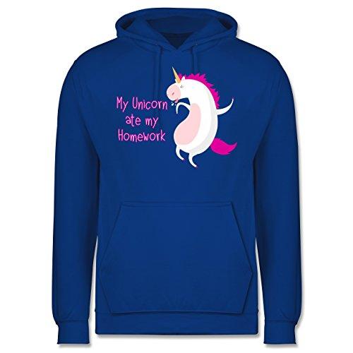 Comic Shirts - My unicorn ate my homework - Männer Premium Kapuzenpullover / Hoodie Royalblau