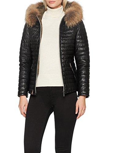 Oakwood Damen Jacke 61677, Schwarz-Schwarz, Small (Winter-thinsulate Jacke)