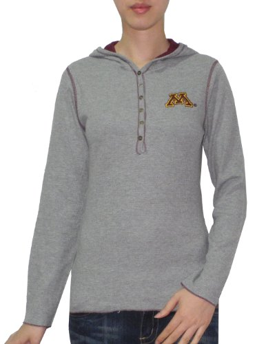 NCAA Minnesota Golden Gophers Femme Slim Fit Pullover Hooded T Shirt Gris