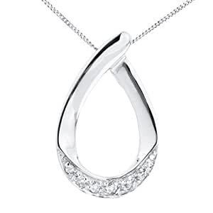 Ornami Glamour 9ct White Gold Ladies' 5 Pt Diamond Loop Pendant