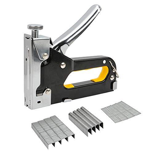 SENZEAL 3-in-1 Handtacker mit 600 Tackerklammern Handtacker klammern Metall Hefter Tackergerät Ideal für Arbeiten im Haushalt