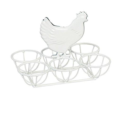 6Y0871W eierständer tablette poulet blanc env. 16 x 11 x 12 cm
