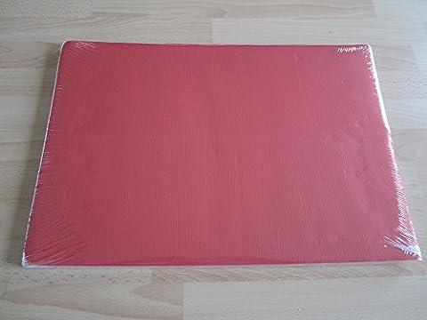 Rouge jetables en papier Sets de table (lot de 100)...