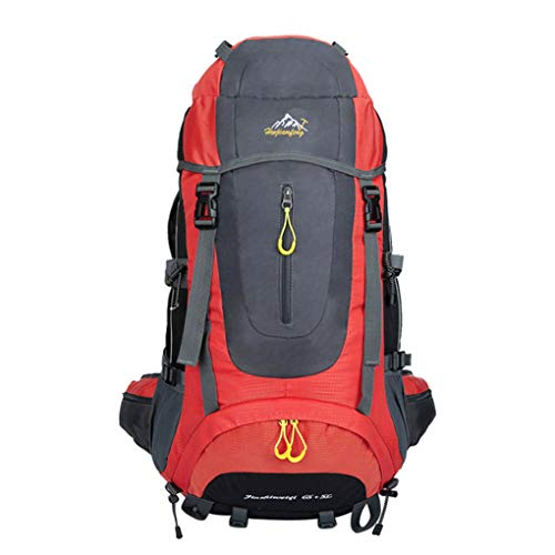 Minzhi 56-75L große Kapazitäts Unisex Outdoor-Camping-Wanderrucksack Rucksack einstellbar Wasserdicht Reisetaschen