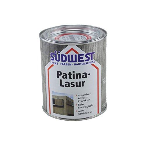 Südwest Patina-Lasur Holzlasur (0,75 Liter, Treibholz)