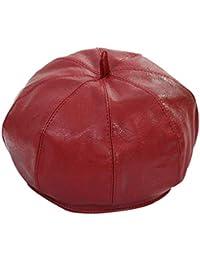 ChSe Women Hat In pelle in PU cappello ottagonale donna outdoor  autunno inverno berretto artista 074209db86f5