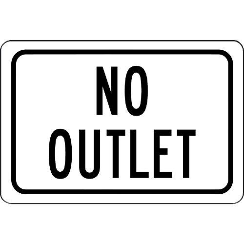 Dozili No Outlet Aluminiumschild - UV-Schutzbeschichtung - Will Not Rost 12