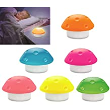 Lámpara de noche infantil 3 LED en forma de SETA de silicona - Fucsia