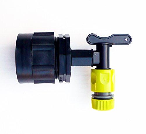 Heavy Duty IBC adaptateur (S60 X 6) pour citerne robinet C/W Intégré de Snap On + Raccord de tuyau