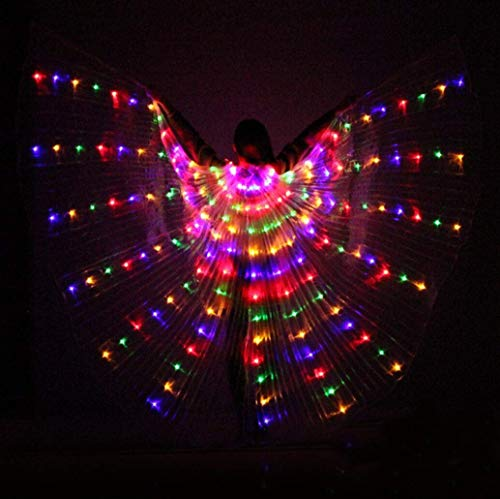 Z-SGFZ Dance Fairy Bauchtanz LED Isis Wings Stick/Stick Wings 360 LED Nachtlicht Stage Performance Requisiten - CE, ()