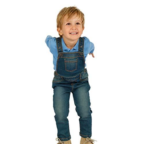 Top Top Baby-Jungen lirrake Latzhose, Blau (Tejano 30), 74 (Herstellergröße: 9-12)