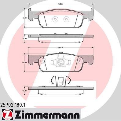 Zimmermann Kit pastiglie freno 25702.180.1