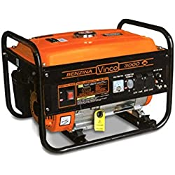 60106 Generador corriente VINCO 4 tiempos 2,8 kw gasolina 6,5 HP chip AVR 200cc