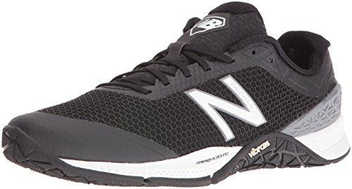 New Balance Men Minimus 40 Trainer Fitness Shoes, Multicolor (Black/White), 8.5 UK 42 1/2 EU
