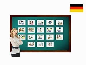 Daily Routines Flashcards in German - Bildkarten - Tagesablauf
