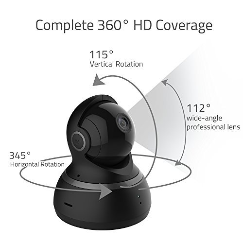 Yi Dome Camera 1080p Hd Pan/tilt/zoom Wireless Ip Security Surveillance System Night Vision (us Edition)