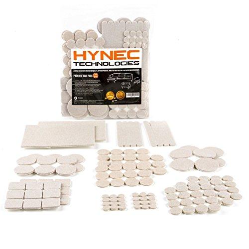 Hynec Premium Möbelschoner / Filzgleiter Großes Set mit 8 verschiedenen selbstklebenden Stickern aus Filz für Möbel Stuhl / Selbstklebend Filzunterlage -