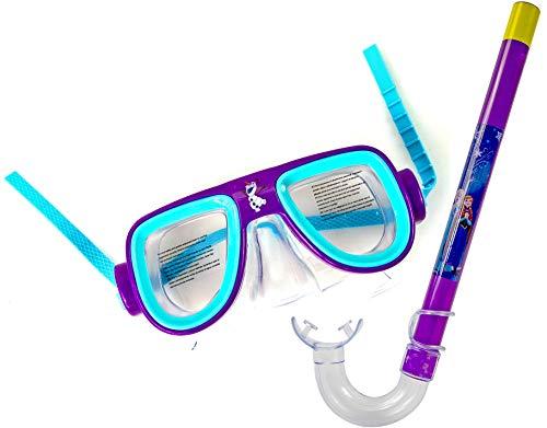 Nick and Ben Kinder-Taucherbrille Schnorchel-Set Schwimm-Brille Kunststoff Frozen Lila Türkis