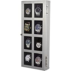 Aluminium Uhrenvitrine COOL-LINE für 8 Armbanduhren