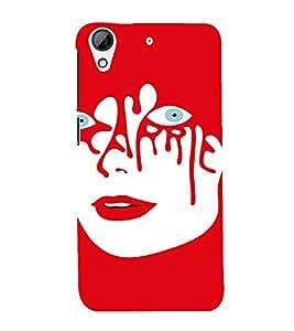 PrintVisa Weird Girl Art 3D Hard Polycarbonate Designer Back Case Cover for HTC Desire 626