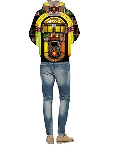 Minetom Unisexe Sweatshirts Femme Homme Impression 3D Sweats à capuche Automne Hiver Manches Longues Sweat-shirts Manteaux Jukebox