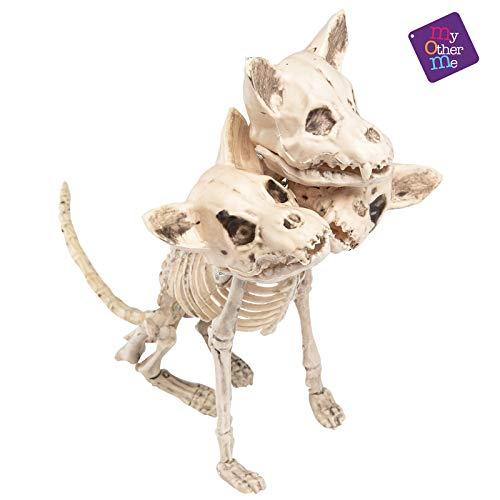 Hund Skelett mit 3 Köpfe (Skelett Kopf Kostüm)