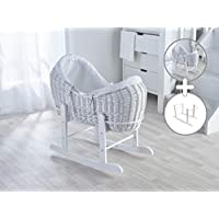 White Noah Pod with White Waffle Dressing & Deluxe White Rocking Stand