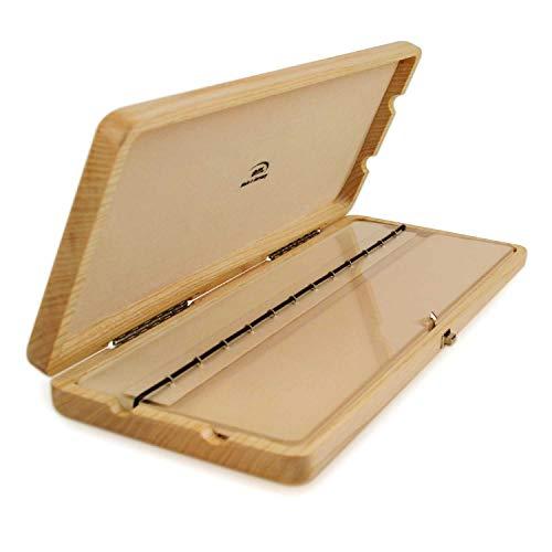 EM - 12er Blattetui für Klarinette (böhm oder deutsch) - aus Holz, natur hell (geeignet für zwölf Klarinettenblätter)
