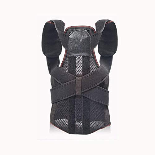 TENGGO Große Größe Verstellbare Rückenstütze Gurt Haltung Korrektur Korrektor Unisex Mit Stahlplatte-XL