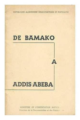De Bamako a Addis-Abeba