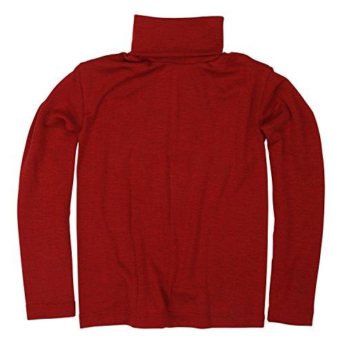 Cosilana Kinder Rollkragen, Größe 92, Farbe Rot - Wollbody®GmbH -