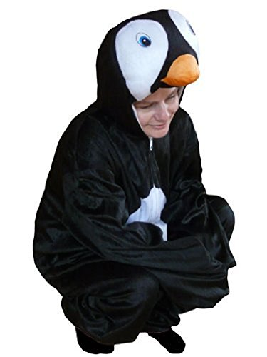 Pinguin-Kostüm, AN46 Gr. XL, Für hoch gewachsene Männer und Frauen! Pinguin-Kostüme Pinguine als Faschings- Karnevals Fasnachts-Geschenk für Erwachsene